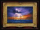 "ORIGINAL Oil Painting Handmade Arseni ~ LIGHTNING 6"" X 4"" NO FRAME2 REMBRANDT"