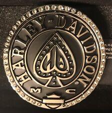 Harley-Davidson® Womens Ace HD B&S with Rhinestone Border Buckle by LODIS