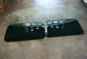 LUCITE COFFEE TABLE BASE, MID-CENTURY MODERN (NO TOP)