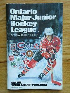 1980 ONTARIO MAJOR JUNIOR HOCKEY LEAGUE Guide JOHN VANBIESBROUCK BERNIE NICHOLLS