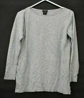 Ann Taylor Factory Women's Medium Long Sleeve Crew Neck Cotton Blend Sweater
