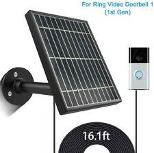 Solar Panel for Ring Video Doorbell 1(1st Gen)3.5W Output,Aluminum Alloy Bracke