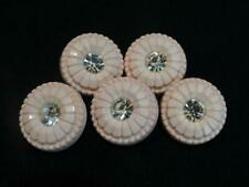 SET OF VINTAGE PINK RHINESTONE BUTTONS