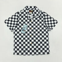 BOB DONG Checkerboard Hawaiian Shirts Summer Vintage Aloha Short Sleeve For Men