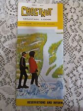 Chestnut Mountain Lodge 1973 Color Pamphlet Ski Resort Galena Illinois