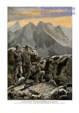 Tyrol snipers XL German print 1915 by Carl von Dombrowski WW 1 telecopic rifle +