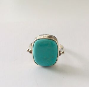 Jay King Turquoise and Amethyst Flip Reversible Ring Size 6 NWOT