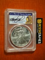 2018 SILVER EAGLE PCGS MS70 THOMAS CLEVELAND FIRST STRIKE NATIVE CHEIF LABEL