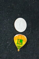 HOT AIR BALLOON PIN ORANGE & GREEN L