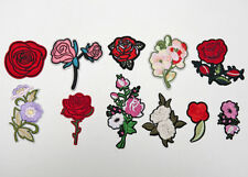 Cute Machine Embroidery Sew Iron On Applique Patch Rose Flowers B