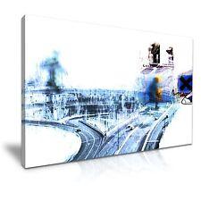 Radiohead Ok Computer cubierta de música de LONA pared arte Foto impresión 76x50cm