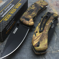 "10 x 8"" TAC FORCE EDC CAMO SPRING ASSISTED TACTICAL POCKET KNIFE Wholesale Lot"