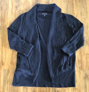 Barefoot Dreams Cozychic Lite Cardigan Sweater Robe Women's 1X Dark Navy Blue