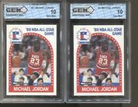 2 CT 1989-90 Michael Jordan Hoops #21 Gem Mint 10 RC Chicago Bulls MVP HOF