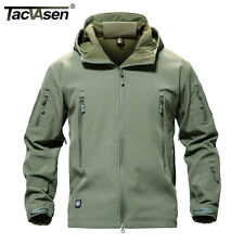 TACVASEN Men Waterproof Tactical Jacket Soft shell Coat Military Camping Outwear