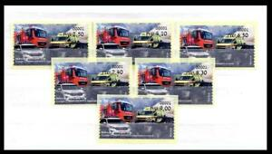 ISRAEL STAMPS 2021 EMERGENCY & RESCUE ORGANIZATIONS 6 ATM MACHINE # 001 LABEL