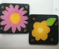 Wood hand painted coaster - Hand painted coaster - Wood coasters - Coasters