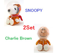 ASTRONAUT SNOOPY & Charlie Brown PEANUT 50th Anniversary Plush Doll H/18cm 2Set