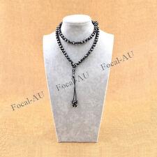 Muslim Tasbih Black Prayer Beads Engraved Allah Islam Rosary Unisex 1PC