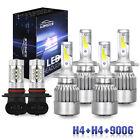 6000K LED Headlights+Fog Lights Bulbs Kit 6Pcs For Toyota Tundra 2000-2005 2006