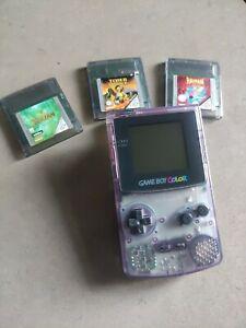 Nintendo game boy color CGB-001 Et 3 Jeux