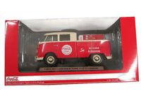 Coca-Cola 1963 VW Pickup w/ Metal Vending Machine New in Box 1:24 Scale