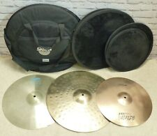 Three Cymbals (Paiste 20, Paiste 18, Zildjian 16) in Padded Bag - Thames Hospice