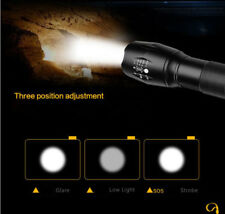 3 mode Micro USB Rechargeable LED Cree T6 Zoomable LED Flashlight Torch + Holder