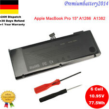 "Akku Für Apple MacBook Pro 15"" A1286 2011 2012 A1382, i7 Unibody Series Accu"