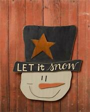 SALE/ Country new hanging large winter SNOWMAN Hanger /LET IT SNOW