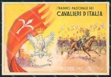 Militari 2º Raduno Cavalieri Italia Trieste 1936 Cavalleria FG cartolina XF7489
