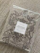 New: Restoration Hardware Wentworth Crest Bedding King Pillow Sham
