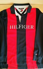 Vtg Tommy Hilfiger Polo Rugby, Spellout, Colorblock, L, EUC, Big Logo