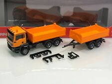 Herpa 308090 MAN TGS M Tandemkipper HZ orange (Mo6208)