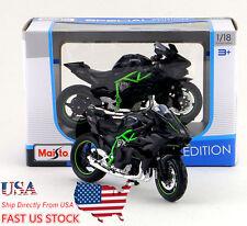 US Shipping Maisto 1:18 Scale Kawasaki Ninja H2 R Motorcycle Collection