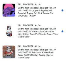 "Custom Listing 3 Stickers Size 3"" Each"