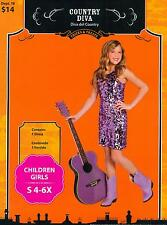 COSTUME, ABITO DI CARNEVALE COUNTRY DIVA, STAR DEL COUNTRY, TG.S 4-6-X
