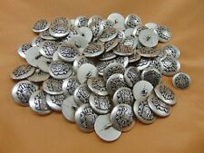 Vtg Coat of Arms Buttons Metal Shank Silver Tone  LOT of 70+
