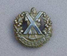 Cameron Highlanders glengarry badge, old example.