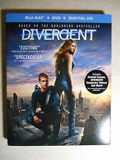Divergent (Blu-ray/DVD, 2014, 2-Disc Set, Includes Digital Copy) W/Slipcover