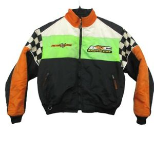 Arctic Cat Snowmobiling Racing Jacket Youth Size 16 Green NitroThinsulate *Stain