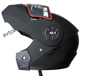 Modular Flip Up Helmet Motorcycle Motorbike With Integrated Sun Visor M/L Size
