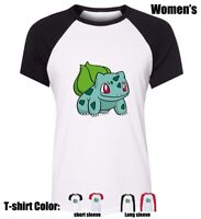 Cute Pikachu Pokemon Bulbasaur Girl's Ladys Cotton T-shirt Graphic Tee Tops