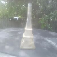 Vintage Eiffel Tower Clear Glass Bottle Decanter for wine or olive oil.