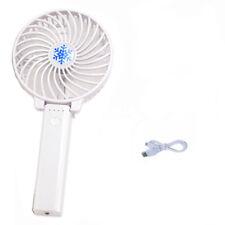 Faltbar Tragbarer Akku USB Handventilator Ventilator Wiederaufladbar Wei? GE