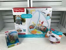 Fisher Price Fold & Go Portable GYM - Coffe Cup Teether -Kangaroo.Lot of 3.