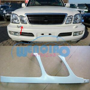 For Lexus LX470 1998-02 Unpainted Right/Front Bumper Headlight Trim Under Mesh