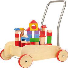 Andador Bloques De Construcción Infantil Madera Bebé Walker
