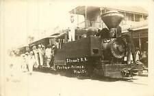 Haiti, Port-au-Prince, Street Railroad, US Occupation Early Real Photo Postcard
