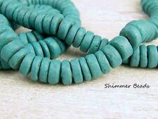Coconut Wood Beads~ Heishi Rondelle~Turquoise